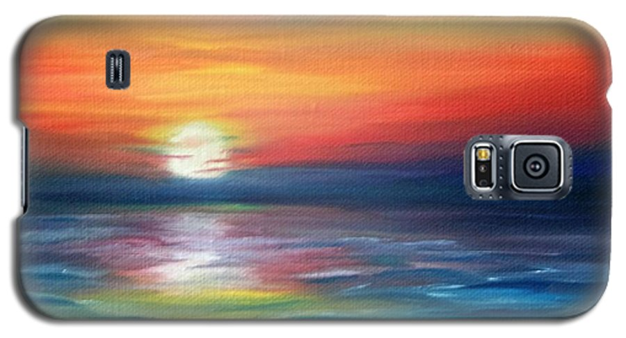 Sunrise Galaxy S5 Case featuring the painting First Light by Lora Duguay