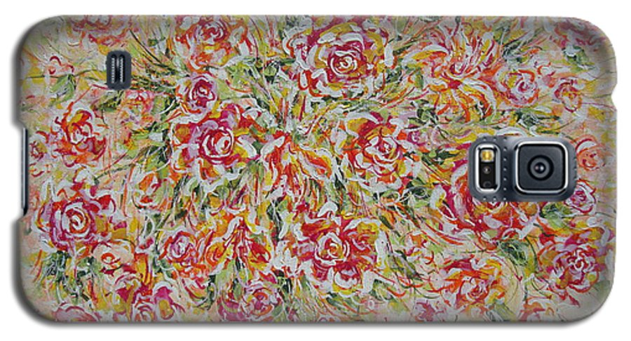 Flowers. Floral Galaxy S5 Case featuring the painting First Love Flowers by Natalie Holland