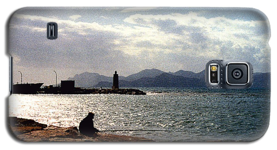 Fisherman Galaxy S5 Case featuring the photograph Fisherman In Nice France by Nancy Mueller
