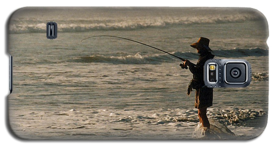 Fisherman Galaxy S5 Case featuring the photograph Fisherman by Steve Karol