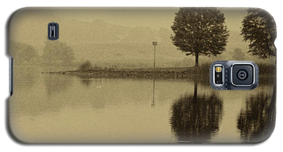 Fishing Galaxy S5 Case featuring the photograph Fishing At Marsh Creek State Park Pa. by Jack Paolini