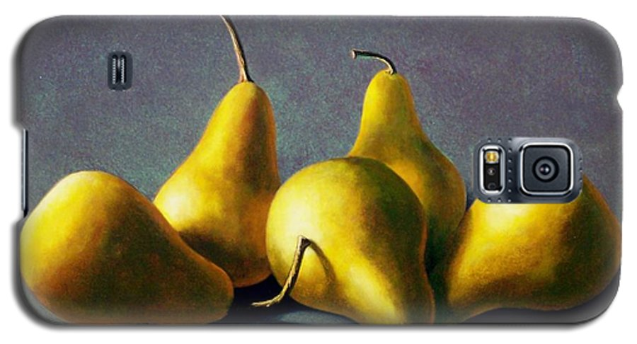 Still Life Galaxy S5 Case featuring the painting Five Golden Pears by Frank Wilson