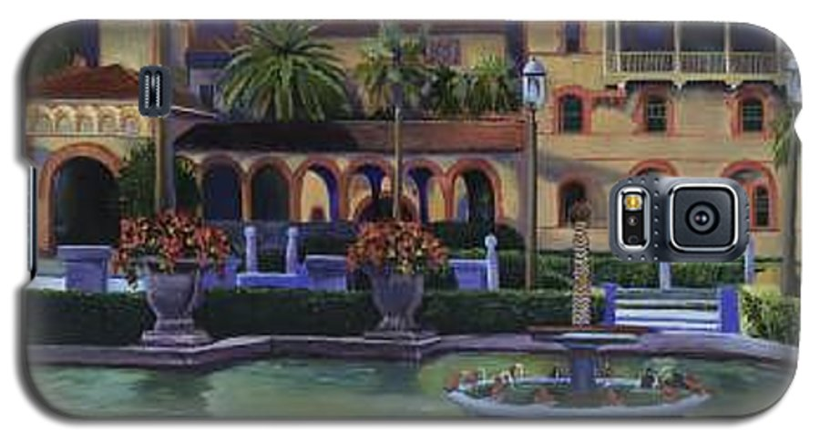 St. Augustine\'s Flagler College Campus Galaxy S5 Case featuring the painting Flagler College II by Christine Cousart