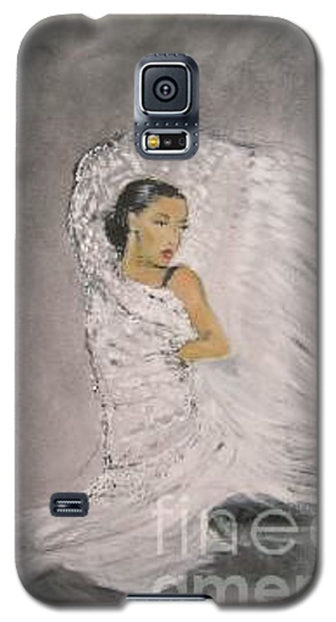 Spain Galaxy S5 Case featuring the painting Flamenco by Lizzy Forrester