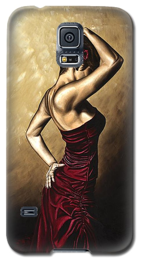 Flamenco Galaxy S5 Case featuring the painting Flamenco Woman by Richard Young