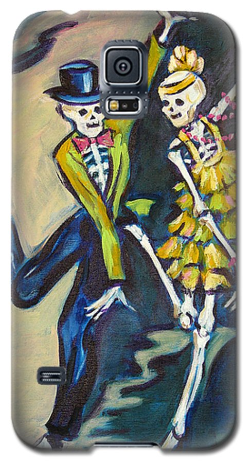 Dance Galaxy S5 Case featuring the painting Flappers by Sharon Sieben