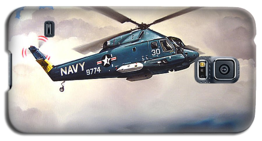 Military Galaxy S5 Case featuring the painting Flight Of The Seasprite by Marc Stewart