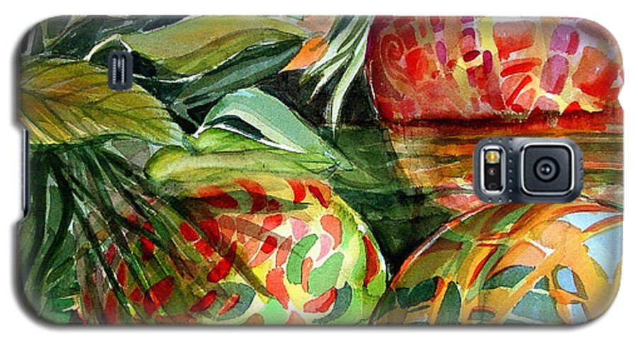 Float Galaxy S5 Case featuring the painting Floating by Mindy Newman