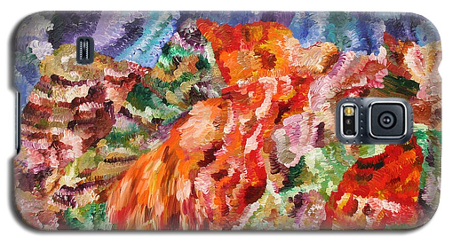 Fusionart Galaxy S5 Case featuring the painting Flock by Ralph White