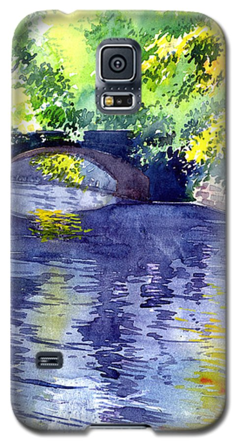 Nature Galaxy S5 Case featuring the painting Floods by Anil Nene