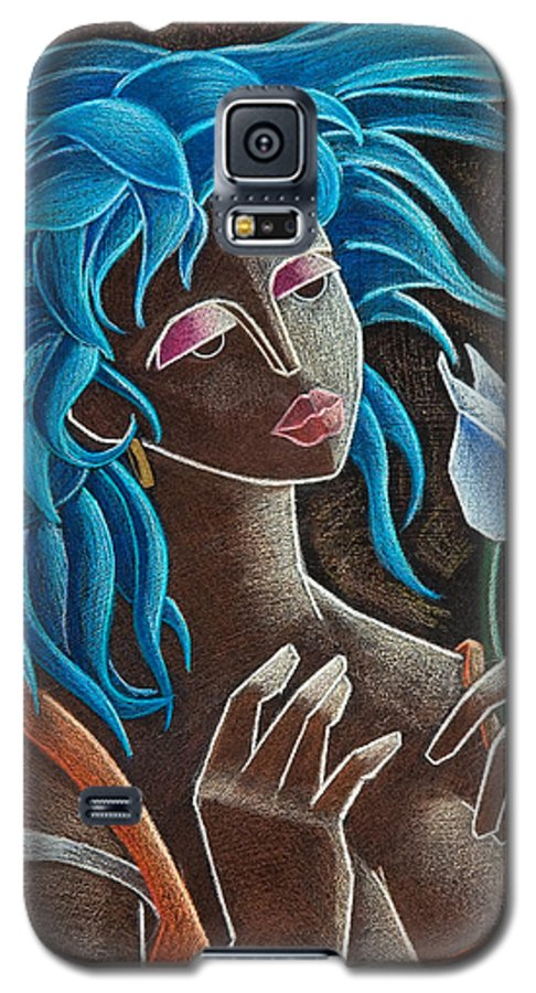 Puerto Rico Galaxy S5 Case featuring the painting Flor Y Viento by Oscar Ortiz