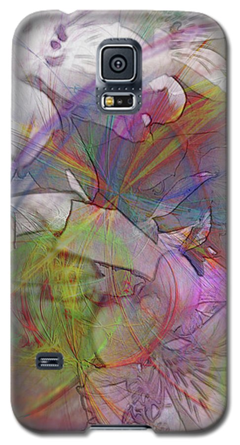 Floral Fantasy Galaxy S5 Case featuring the digital art Floral Fantasy by John Beck