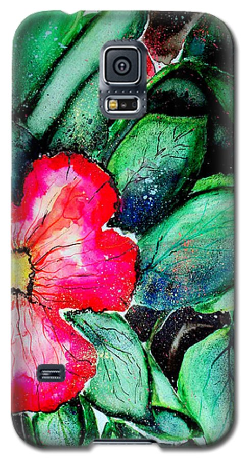 Exotic Galaxy S5 Case featuring the photograph Florida Flower by Margaret Fortunato