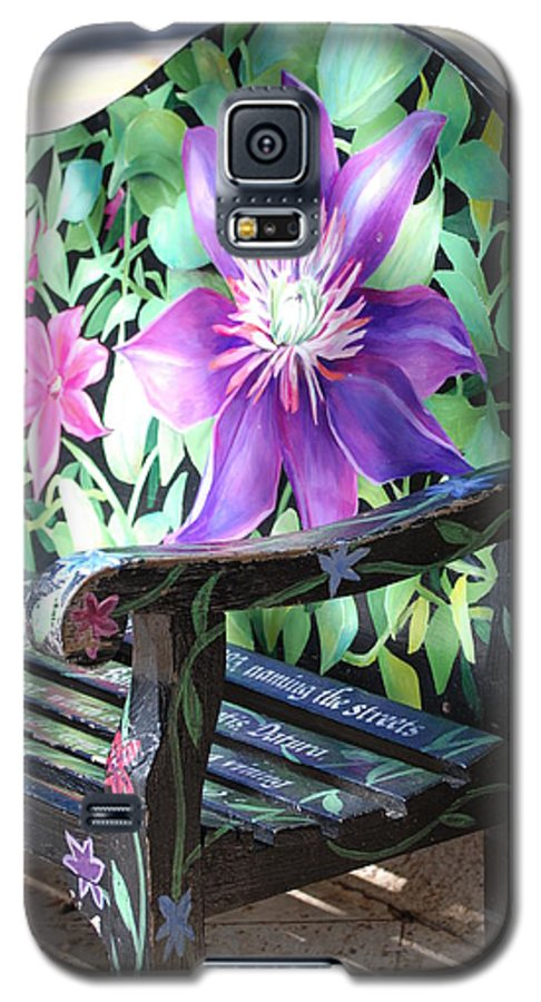 Macro Galaxy S5 Case featuring the photograph Flower Bench by Rob Hans