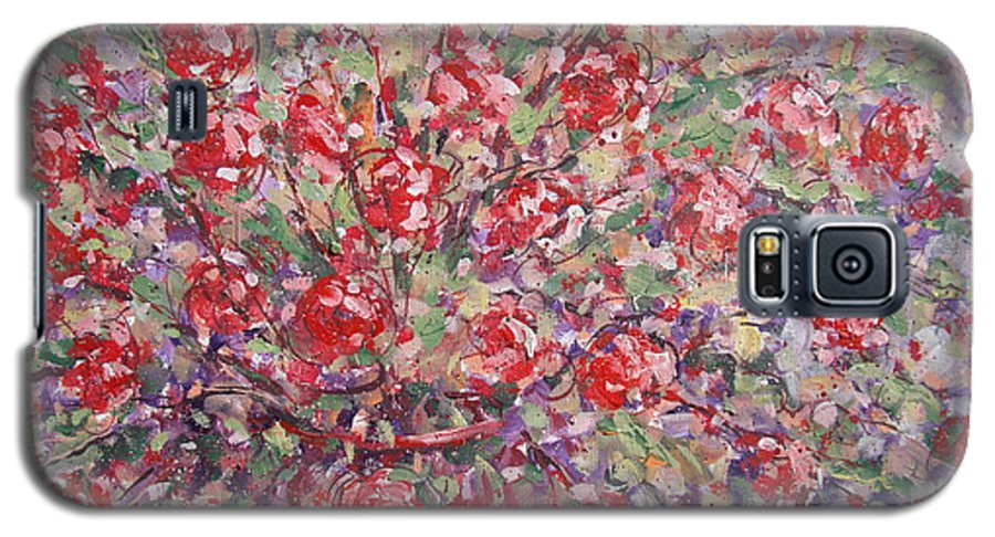 Painting Galaxy S5 Case featuring the painting Flower Feelings. by Leonard Holland