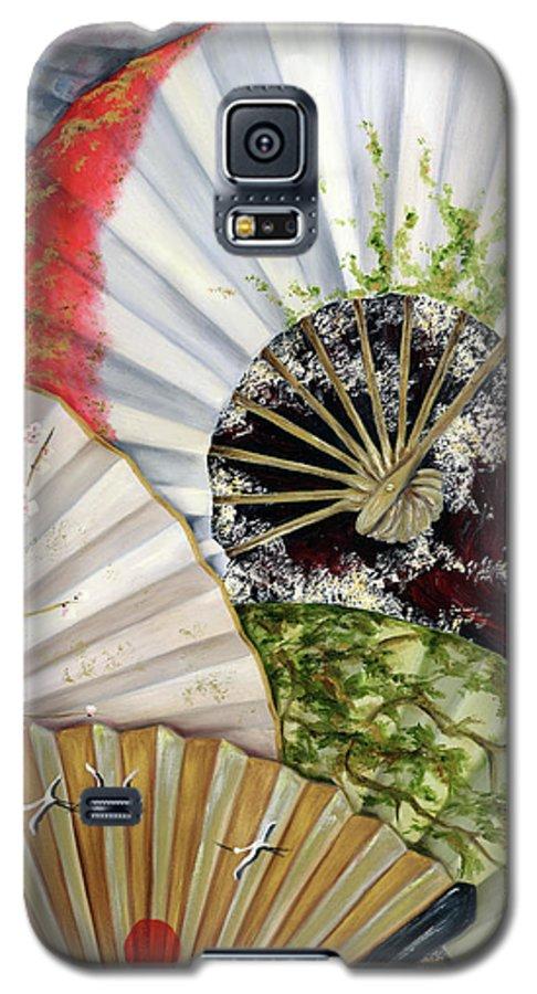 Japanese Galaxy S5 Case featuring the painting Flower Garden by Hiroko Sakai