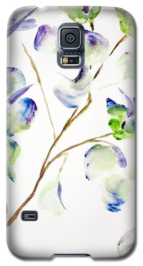Flower Galaxy S5 Case featuring the painting Flower by Shelley Jones