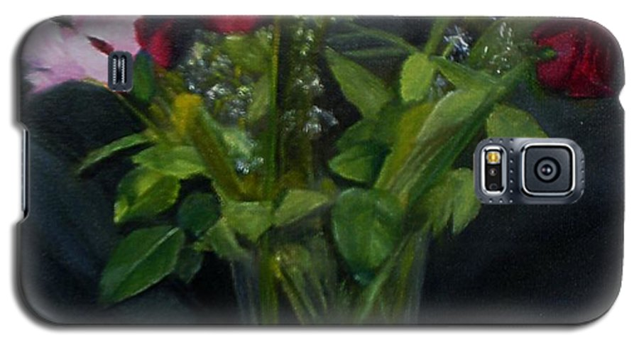 Flowers Galaxy S5 Case featuring the painting Flowers For Sarah by Sheila Mashaw