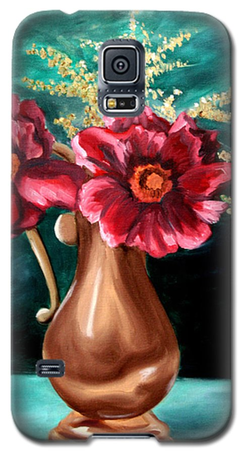 Flower Galaxy S5 Case featuring the painting Flowers by Maryn Crawford