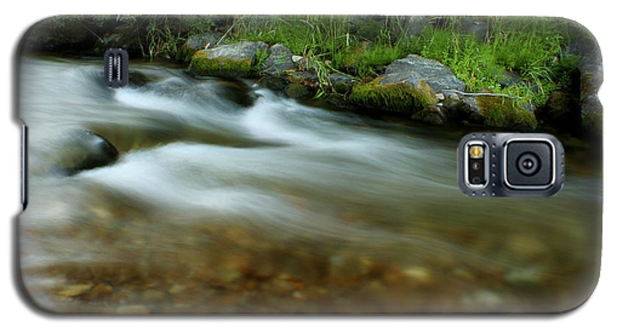 River Galaxy S5 Case featuring the photograph Flowing by Idaho Scenic Images Linda Lantzy