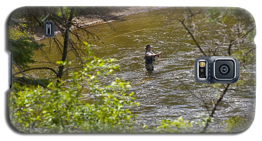 Fishing Galaxy S5 Case featuring the photograph Fly Fishing by Louise Magno