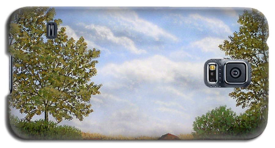 Landscape Galaxy S5 Case featuring the painting Foothills Afternoon by Frank Wilson