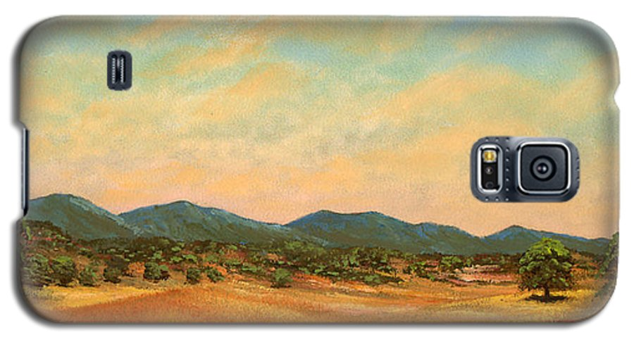 Landscape Galaxy S5 Case featuring the painting Foothills by Frank Wilson