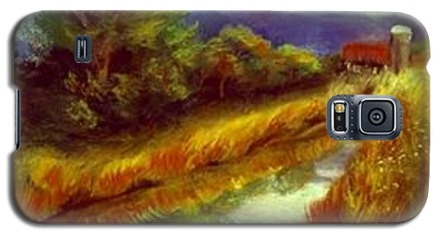 Landscape Galaxy S5 Case featuring the painting For A Thirsty Land by Gail Kirtz