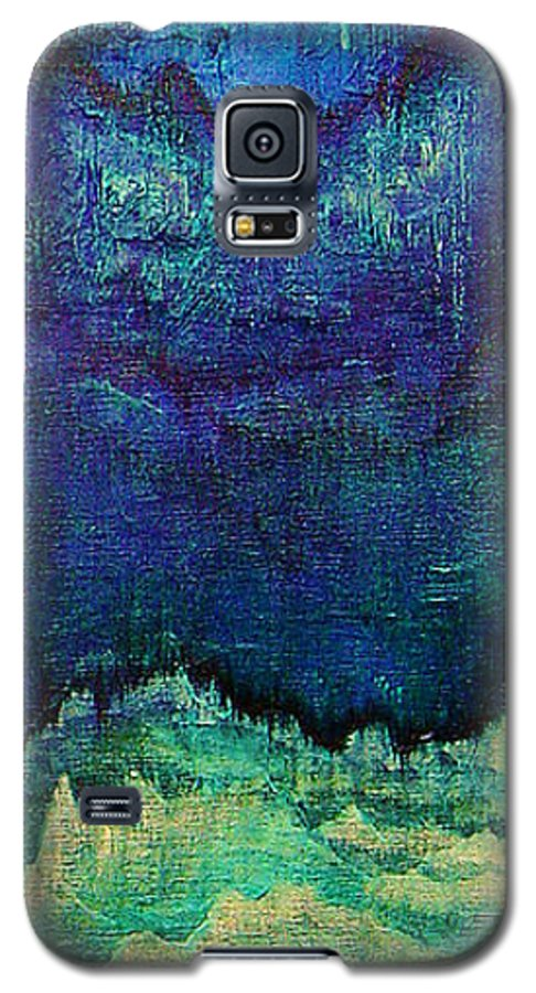 Blue Galaxy S5 Case featuring the painting For Linda by Shadia Derbyshire