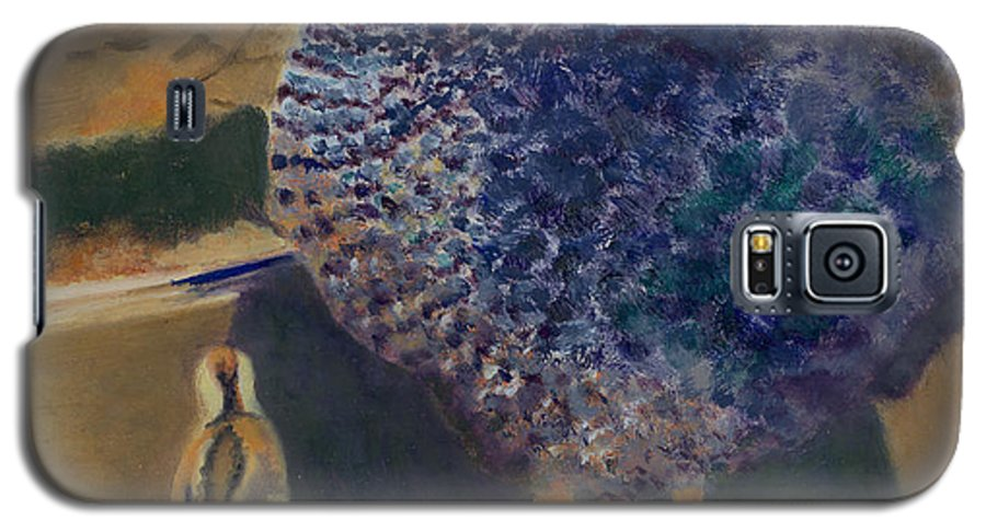 Animal Galaxy S5 Case featuring the painting For The Birds by Paula Emery