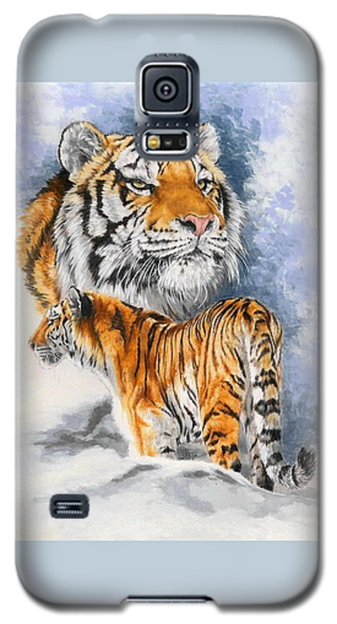 Big Cats Galaxy S5 Case featuring the mixed media Forceful by Barbara Keith