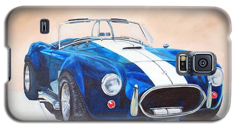 Car Galaxy S5 Case featuring the painting Ford Cobra In Oil by Margaret Fortunato