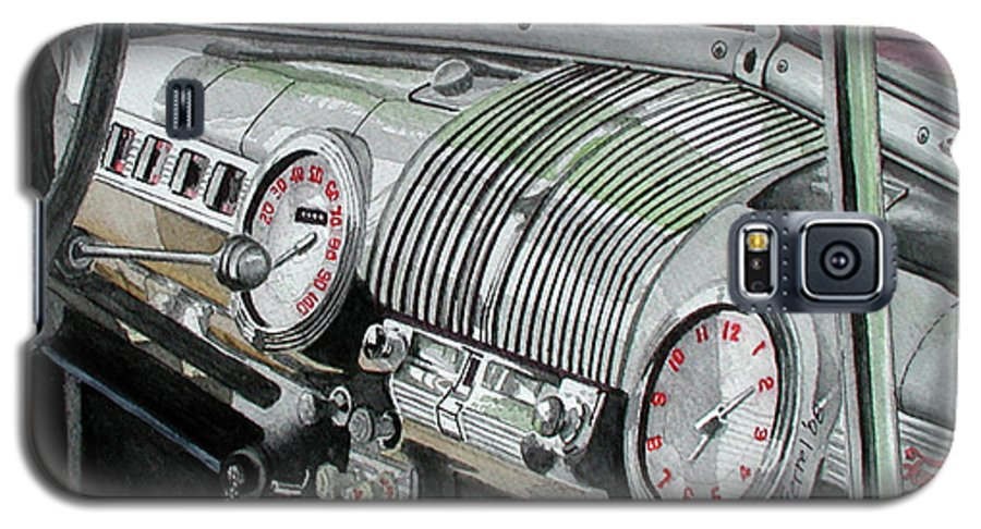 Car Galaxy S5 Case featuring the painting Ford Dash by Ferrel Cordle