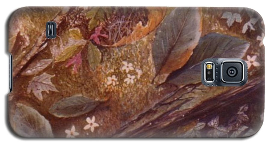 Leaves; Forest; Flowers Galaxy S5 Case featuring the painting Forest Floor by Ben Kiger