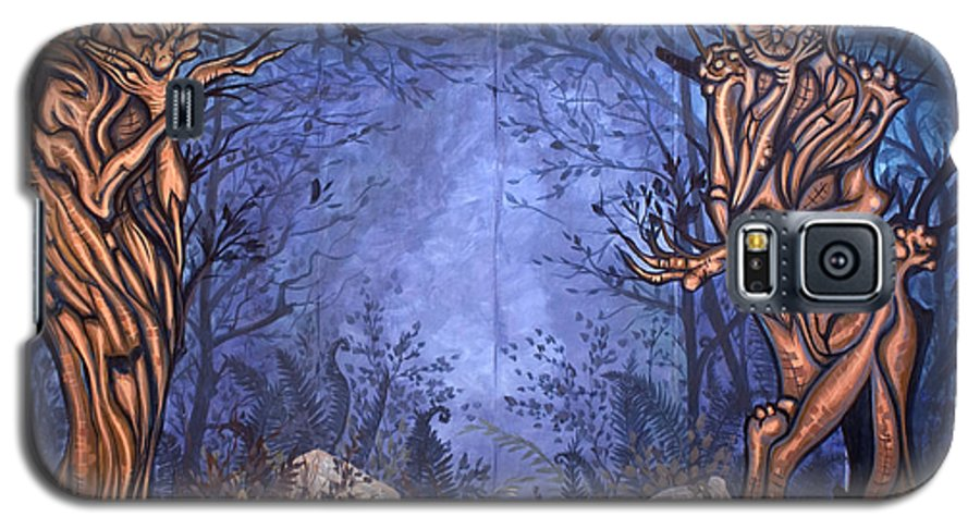 Mystic Galaxy S5 Case featuring the painting Forest by Judy Henninger
