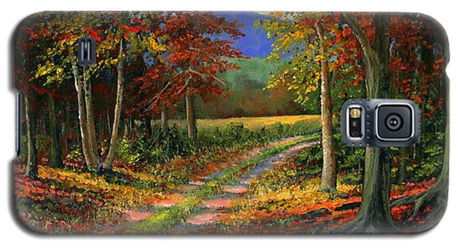 Landscape Galaxy S5 Case featuring the painting Forgotten Road by Frank Wilson