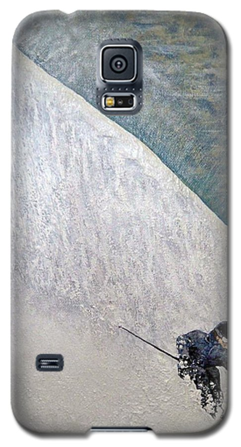 Landscape Galaxy S5 Case featuring the painting Form by Michael Cuozzo