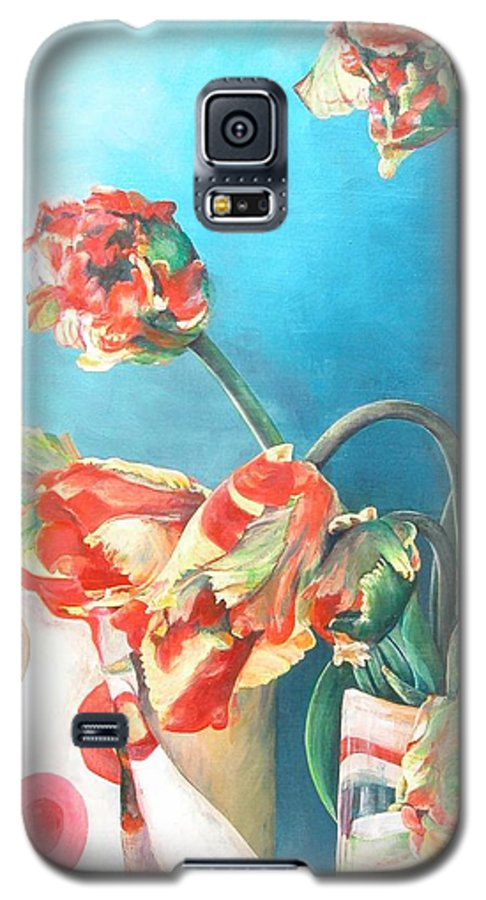 Still Life Galaxy S5 Case featuring the painting Foulard by Muriel Dolemieux