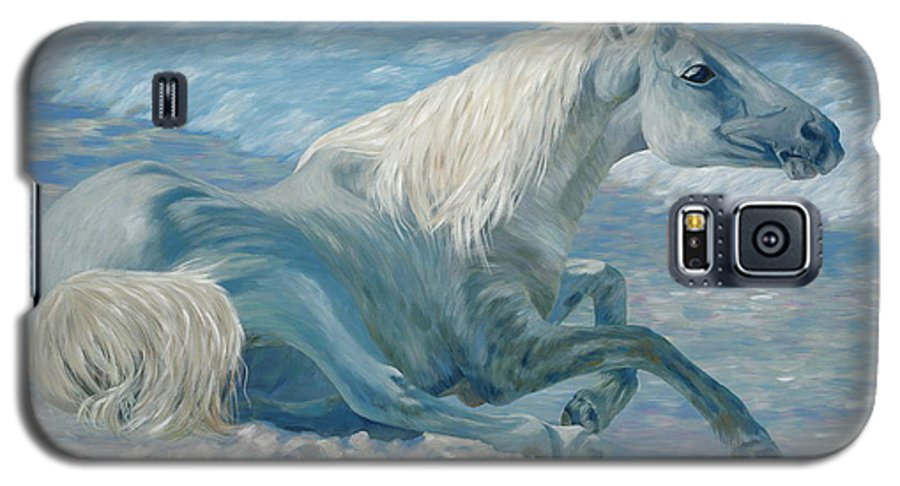 Seascape Galaxy S5 Case featuring the painting Free Spirit by Danielle Perry