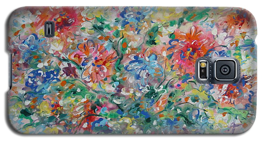 Flowers Galaxy S5 Case featuring the painting Fresh Bouquet by Leonard Holland