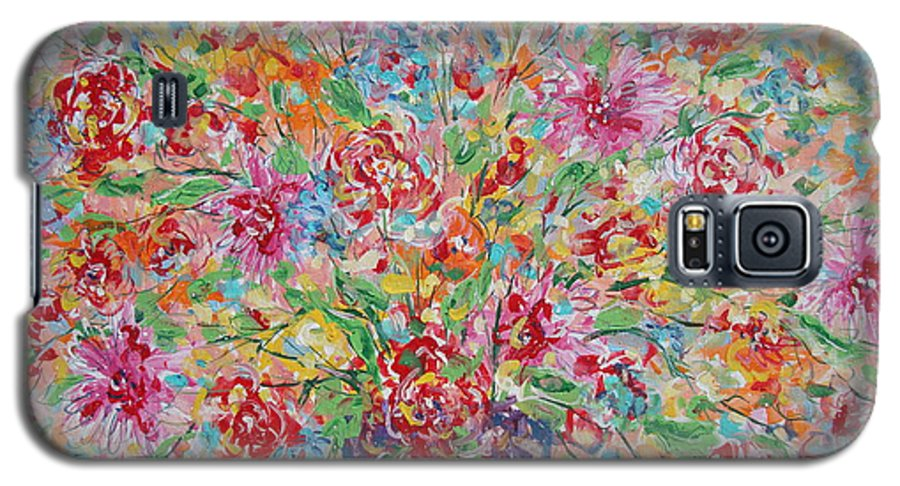 Painting Galaxy S5 Case featuring the painting Fresh Flowers. by Leonard Holland