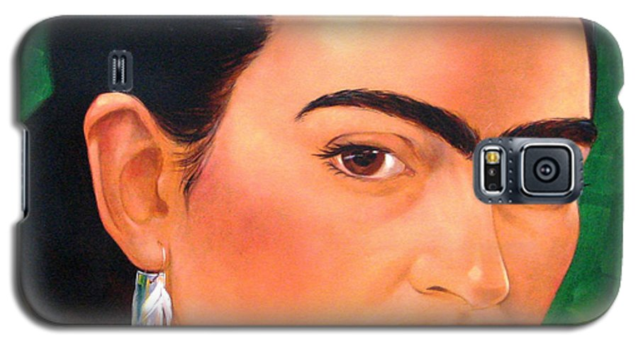 Frida Kahlo Galaxy S5 Case featuring the painting Frida Kahlo 2003 by Jerrold Carton