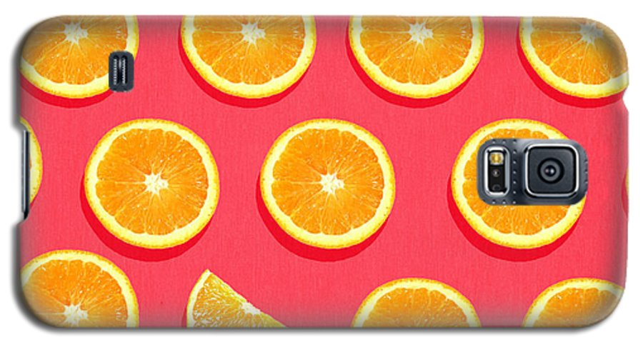 Abstract Galaxy S5 Case featuring the painting Fruit 2 by Mark Ashkenazi