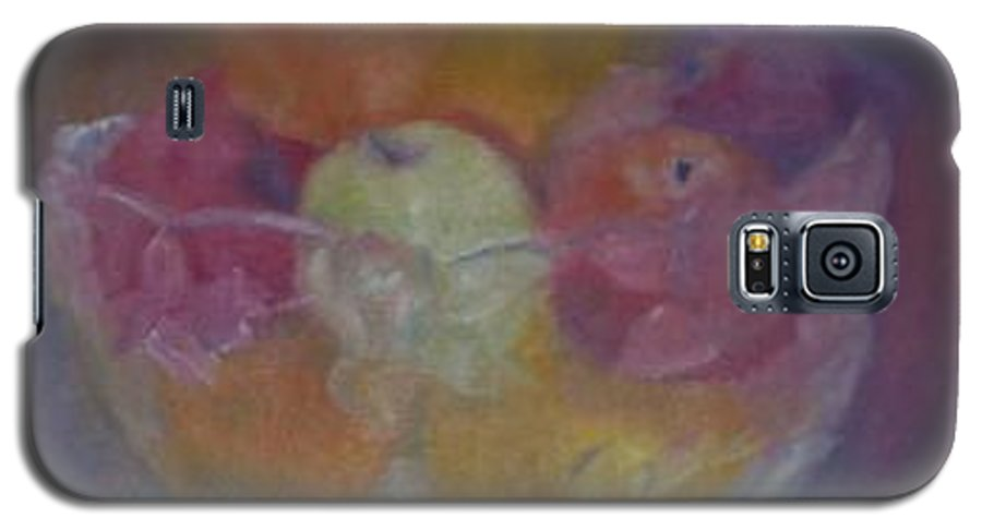 Still Life Galaxy S5 Case featuring the painting Fruit In Glass Bowl by Sheila Mashaw