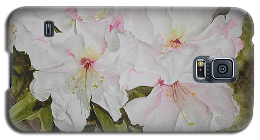 Flowers Galaxy S5 Case featuring the painting Full Bloom by Jean Blackmer