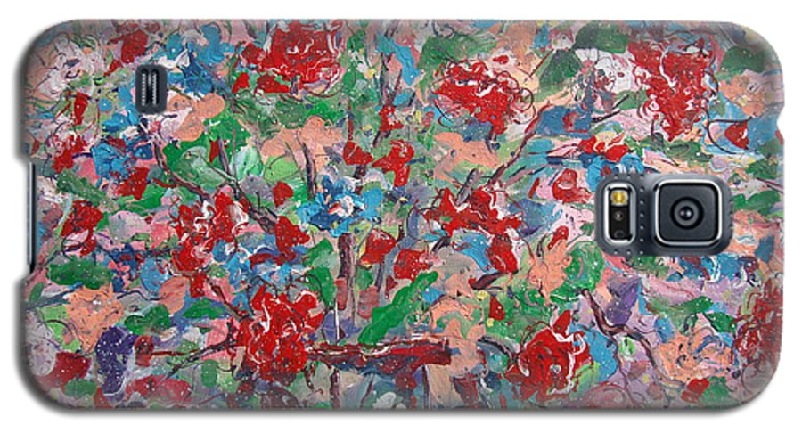 Painting Galaxy S5 Case featuring the painting Full Bloom. by Leonard Holland