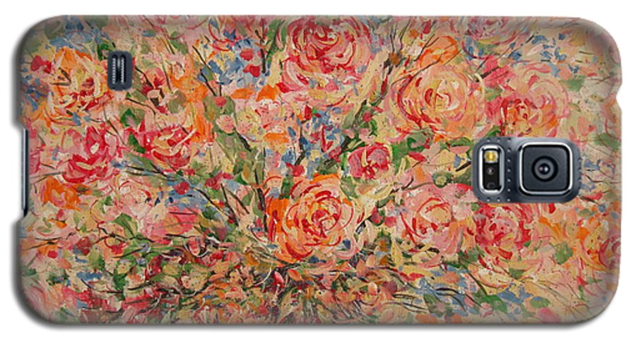 Flowers Galaxy S5 Case featuring the painting Full Bouquet. by Leonard Holland