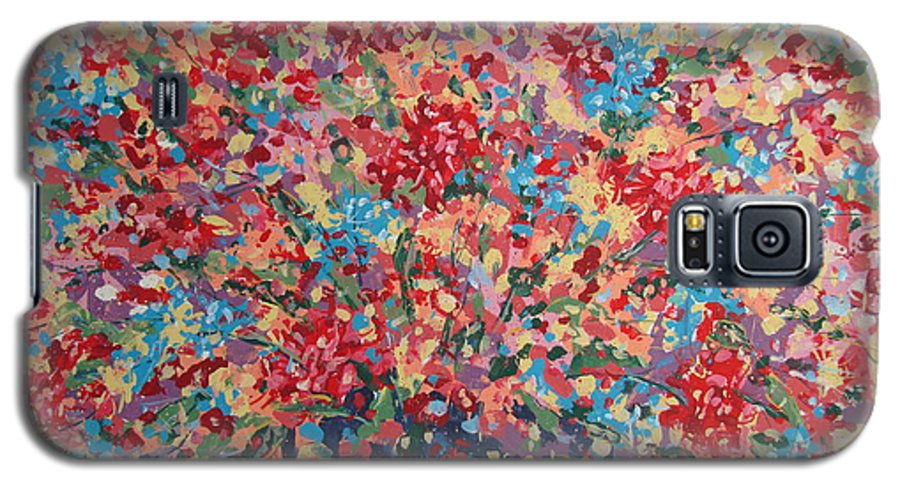 Flowers Galaxy S5 Case featuring the painting Full Flower Bouquet. by Leonard Holland