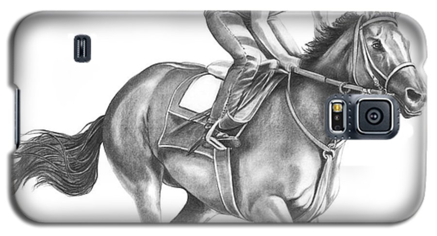 Horse Galaxy S5 Case featuring the drawing Full Gallop by Murphy Elliott
