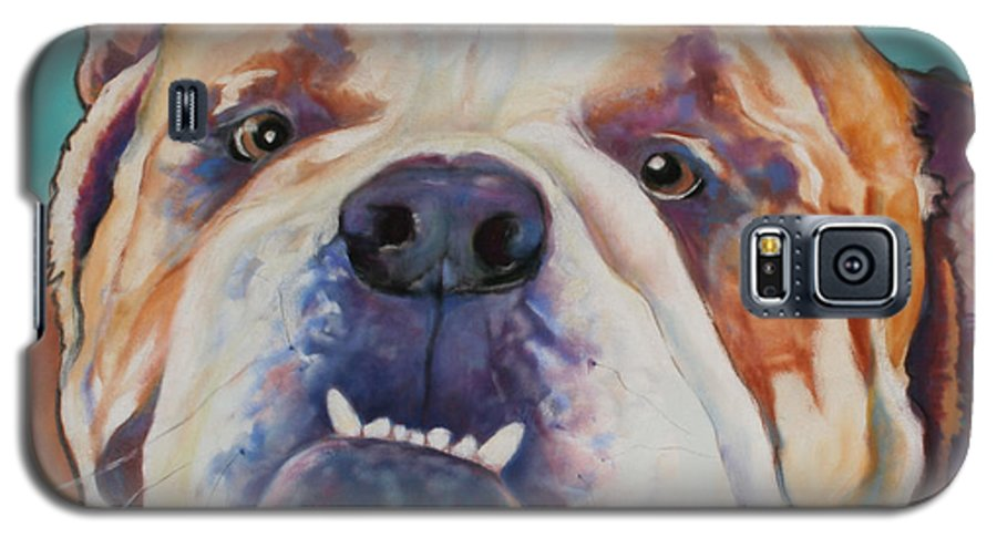 Pat Saunders-white Pet Portraits Galaxy S5 Case featuring the painting Game Face  by Pat Saunders-White